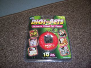 kids only red digipets digi pets electronic virtual pet keychain NEW