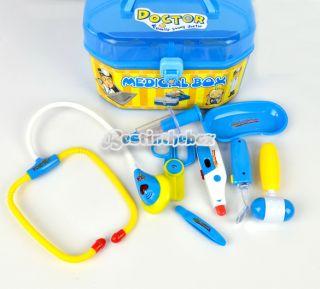 Children Kids 8 Piece Simulation Medical Kit Doctor Role Play Set