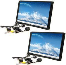 TView 17 Raw Panel Flat Screen Car LCD Monitors w VGA Input Remote