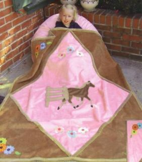 Kids Western Bedding Cowgirl Horse Blanket Throw New