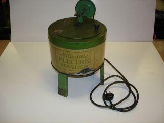Vintage Hillsdale Electric Washer Mini Kids Toy Washing Machine
