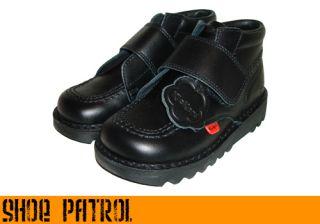Kickers Kick Kilo Velcro Black School Boot Inf 5 2 5
