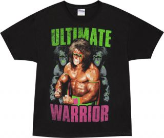 The Ultimate Warrior Darkness WWE WWF T Tee Shirt New