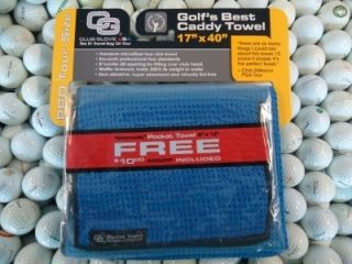 New Club Glove Microfiber Caddy + Pocket Towel ROYAL BLUE Border Edge