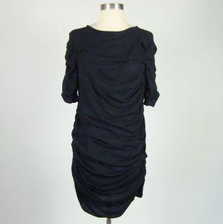 Khloe Kardashian CLU Navy Ruched T Shirt Dress Size M
