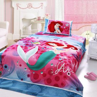 100 Percent Cotton Little Mermaid Kids Bedding Set for Girls