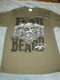 Commander Fear the Beard T shirt Buck Deer Hunting Duck Dynasty NWOT