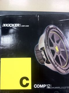 Kicker Comp 12 Subwoofer C 12 Single Voice Coil 10C124 013034008959