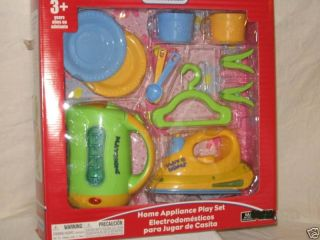 Kid Connection Appliance Play Kettle Iron Hanger Yello