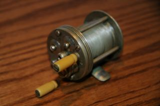 Vintage Horton 3 Blue Grass Reel Bristol Conn Antique Casting Fishing