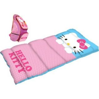Licensed Sleeping Bag w Backpack Hello Kitty Camping Kids Bedding NEW