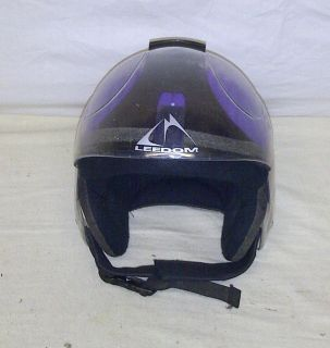 LEEDOM Kids Brain Bucket Youth Junior Purple Ski Snowboard Helmet