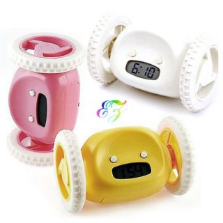 S5Y Geek Running Jumping Digital Robot Loud Alarm Clock Kid Boy Girl