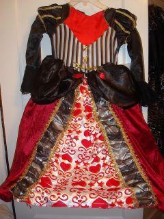 Boutique Queen of Hearts Kids Halloween Costume 4 8 New
