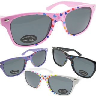 Little Girls Childrens Wayfarer Sunglasses for Kids Super Cute