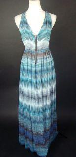 Kim Kardashian H M Blue Print Maxi Dress 4