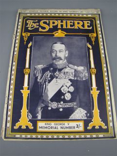 The Sphere Magazine Life of King George V London 1936
