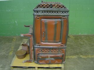 DAUNTLESS 174 VINTAGE WOOD COAL BURNING STOVE PORCELEIN COMPLETE WORKS