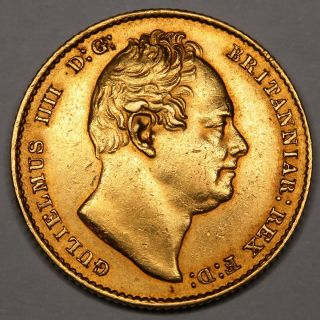 1837 King William IV IIII Great Britain Gold Full Sovereign Coin