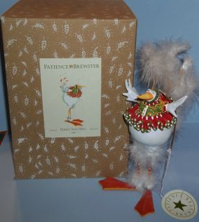Patience Brewster Krinkles Bernice Snow Bird Christmas Ornament 08