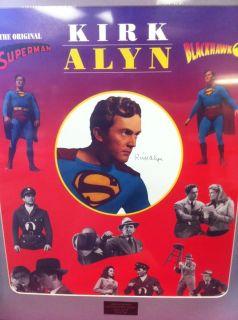 Signed Kirk Alyn Superman Blackhawk Color Print 79 500 COA