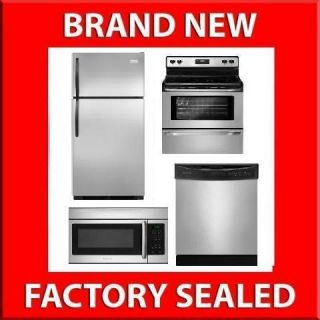 Frigidaire 4 PC Stainless Steel Kitchen Appliances Package 1 G Gas