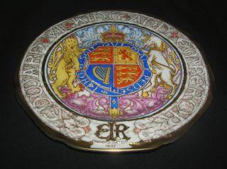 Stunning Plate  Coronation King Edward VIII  Paragon