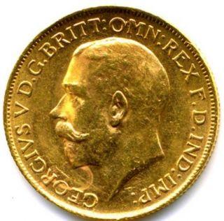 1918 King George V Full Gold Sovereign Lustre
