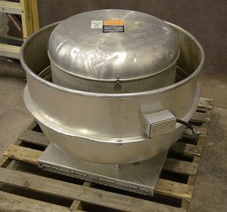 165 VCRX 165VX7B 1HP Centrifugal Roof Exhaust Fan Restaurant Kitchen
