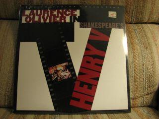 OLIVIER SHAKESPEARE LASERDISCS HENRY V RICHARD III HAMLET 3 DISCS