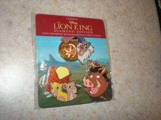 Lion King pin set 3 pins DMR Disney movie rewards simba nala rafiki