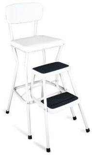 Cosco 11 18WHT Retro Chair Step Stool White Kitchen New