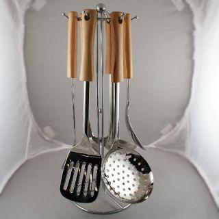 PC Stainless Steel Kitchen Utensil Ladle Spatula Set