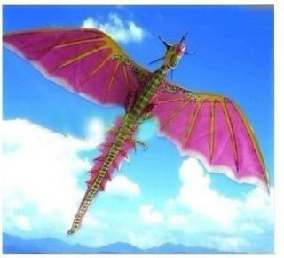 Pterosaur Kite Flying Jurassic Dragon Dinosaur Kite Pink Kites