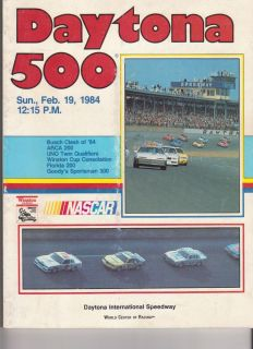 1984 Program NASCAR Stock Car Daytona 500