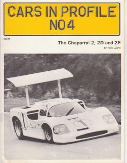 1972 Program scca Can Am WEC Chaparral 2 2D 2F Jim Hall