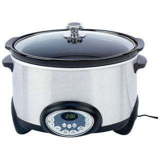 Digital Stainless Steel Slow Cooker Crock Pot Crockpot New