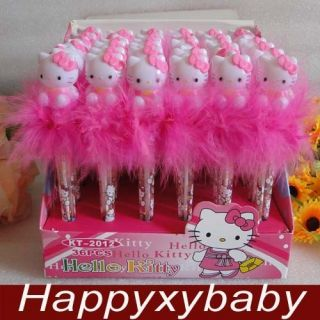 Wholesale Lots Hello Kitty Flash Light Ball Pen 36pcs 2012 New