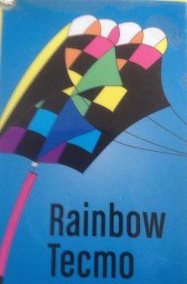 Kitty Hawk Parafoil 5 Kite Rainbow Tecmo with 50 foot streamer tail
