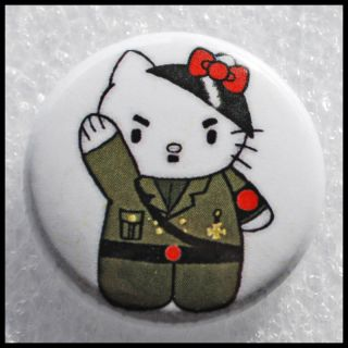 Evil Dictator Tyrant Discriminatory Hello Kitty Button