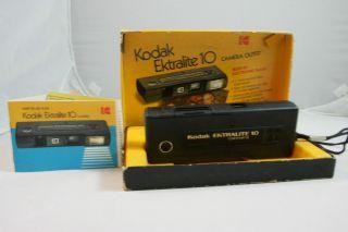 Kodak Ektralite 10 110 Film Camera Outfit w Box Instruction Manual