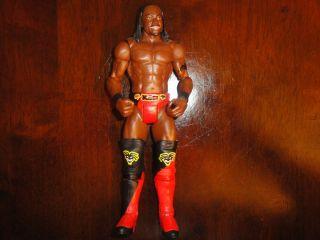 Mattel Basic Kofi Kingston in Black and Red Gear WWE Figure