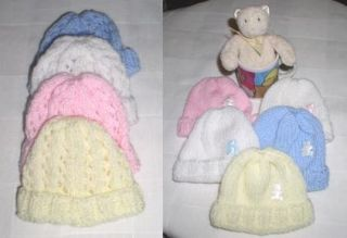 Preemie Premature Baby Reborn Newborn Baby Hand Knitted Hats