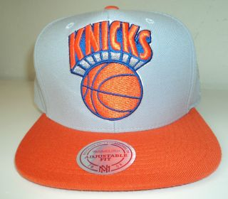 New York Knicks Snapback Mitchell and Ness Retro Hat Cap XL Cool Grey