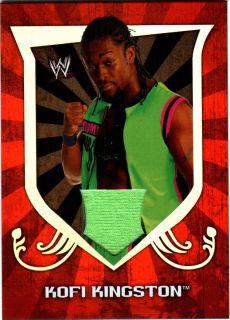 WWE Kofi Kingston 2011 Topps Classic Event Worn T Shirt Relic Card