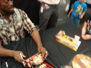 WWE Autographed Signed Kofi Kingston Flexforce RARE Action Figure