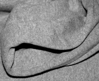 Heather Gray Stretch Jersey 1x1 Rib Knit Fabric Ribbing