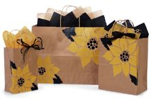 Sunflower Kraft Paper Gift Bags Shopping Bags 125 Assortment Sizes