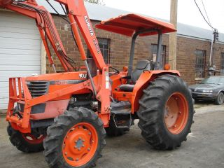 Kubota M4700DT Tractor and Kubota Loader