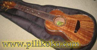 Koa Pili Koko Ukulele Deluxe Concert Solid Acacia Wood